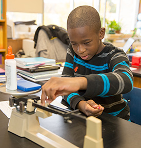 Honor Ridge Student in Science Class - Private Special Education School, Clark NJ